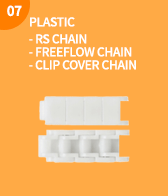 PLASTIC,- RS CHAIN - FREEFLOW CHAIN - CLIP COVER CHAIN