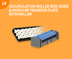 ACCUMULATION ROLLER SIDE GUIDE&MODULAR TRANSFER PLATE WITH ROLLER